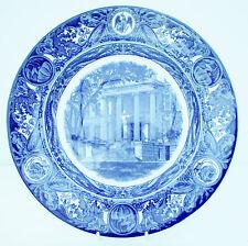 Vintage Wedgwood Iowa University Schaeffer Hall 1956 Blue White Dinner Plate
