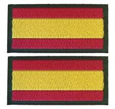 Pareja Parches bandera España 6 x 3 cm hombro filo Verde para coser