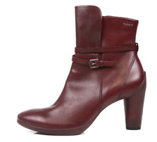 Ecco Womens Burgundy Sculptured 75 Ankle Boot Sz 40 EUR 2047 *