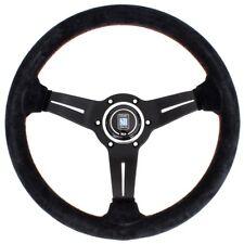 Nardi Sport Rally Deep Corn 330mm Suede Black Spoke Red Stitch 6069.33.2094