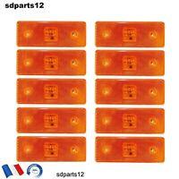 10x Orange Led Feux De Gabarit 12v Camions Caravan Tuning Poids Lourd