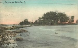 Hand-Colored Postcard; Buckeye Isle, Put-In-Bay OH Lake Erie Ottawa County