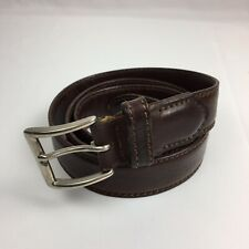 POLO Ralph Lauren RL Vintage Men's Brown Leather Belt Size 38 Made In Italy