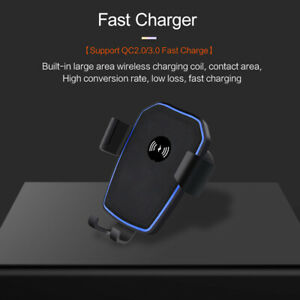 Fast Qi Wireless Car Charger Dock Air Vent Holder For i Phone 11 11Pro 8 X XS XR
