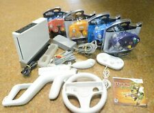 Nintendo Wii WHITE Video Game Console System Bundle GameCube compatible