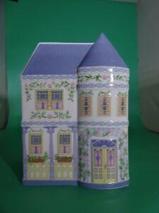 Rare Vintage Lenox Village Planters Canister Fine Porcelain 1993 Lilac Purple