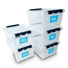SmartStore 32L Plastic Storage Boxes with Lids, Food Safe, Outdoor Indoor
