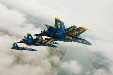 US NAVY BLUE ANGELS MILITARY AIRCRAFT POSTER PRINT 24x36 HI RES 9 MIL PAPER