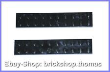 Lego 2 x Platte Platten schwarz (2 x 10) - 3832 - Black Plate - NEU / NEW