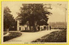 cpa 21 - PONT et MASSÈNE (Côte d'Or) L'Entrée de la DIGUE Maison du Gardien