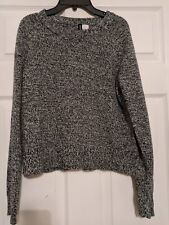 Divided Women's Black / White long sleeve cropped sweater Size XS