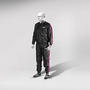 RAD Unisex Sauna Suit, Weight Loss Sweat Suit Jacket Pant Gym, Workout Pink, 3XL
