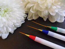 Detalle fino diseño creativo 3 Forro Nail Art Pinceles de pintura de acrílico Punta extensión