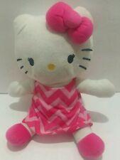 Hello Kitty Stuffed Animal By Northwest/Sanrio 2015 Stuffed Plush Pink Dress