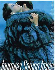Publicité Advertising 1989 Les Manteaux de Fourrures Sprung Frères