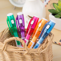5X  Novelty Ballpoint Pen Stationery LED Lights Ballpoint Pen School Student Pen