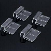 4x Aquarium Tank Clip Halter Halterung Klemme für Glas Abdeckung Acryl NEU& D7S0