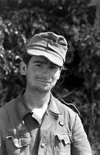 WWII B&W Photo Portrait of Young German POW Italy 1944  World War Two WW2 /2359