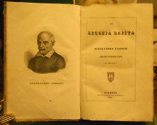 1840 LA SECCHIA RAPITA ARRICCHITA CON INCISIONI IN RAME TASSONI BATELLI FIRENZE