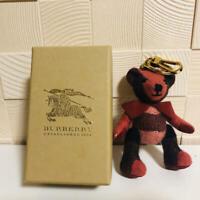 BURBERRY Thomas Bear Key ring Bag Charm Plush doll Trench Coat Check Cashmere 3