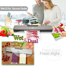New 140W Dry & Wet Vacuum Sealer Machine w/ 15 Vacuum Bags 4 Kinds power outlet