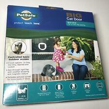 PetSafe Big Cat Small Dog Door 4-Way Locking White Interior/Exterior Ppa00-11326