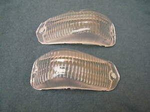 OPEL REKORD 1958-60  FRONT TURN SIGNAL LENS CLEAR SET