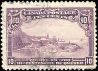 Used Canada 1906 10c F+ Scott #101 Quebec Tercentenary Issue Stamp