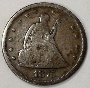 1875-S 20C Twenty Cent Piece in Fine Condition #113