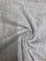 MARK & SPENCER / NEXT CREAM / GREY CHENILLE UPHOLSTERY FABRIC 1.6 METRES