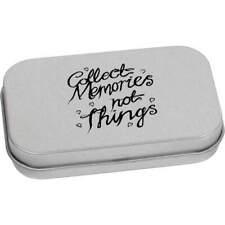 'Collect Memories' Metal Hinged Tin / Storage Box (TT016518)