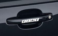 6 x Fiat Aufkleber für Türgriff 500 Stilo Brava Freemont Coupe Emblem Logo