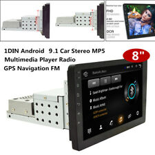 8'' Screen 1DIN Android Car Stereo MP5 Multimedia Player Radio GPS Navigation