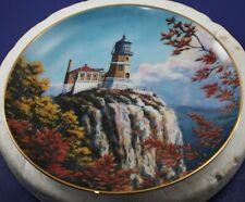 Split Rock Light~Duluth, Minnesota Lighthouses Of America Danbury Mint Plate1993