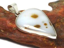 Polka  Dot JASPER    Sterling  Silver  925  Gemstone  PENDANT  -  Hallmarked