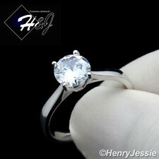 Cz Simple Engagement Ring Size 5-9*Sr63 Women 925 Sterling Silver 1Ct Round Cut