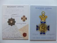 Armes blanches, insignes militaires, fusils, arbalètes, 2 catalogues de ventes