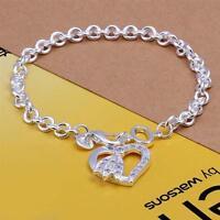 ASAMO Damen Armband Herz mit Zirkonia Stein 925 Sterling Silber plattiert A1303