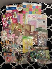 Huge Lot Scrapbooking Stickers / paper / kits Holidays and Lots More Mostly New