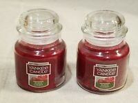 2 Yankee Candle Small Jar Black Cherry 3.7 oz with Lid Brand New in Box