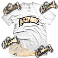 New White BACKWOODS Sneaker T Shirt for Jordan 4 OFF SHIRT