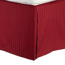 300 Thread Count Egyptian Cotton Stripe Bed Skirt Size: King, Color: Burgundy