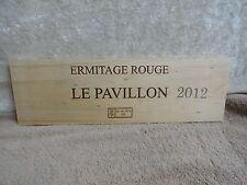 2012 Le PAVILLON  ERMITAGE CHAPOUTIER WOOD WINE PANEL END