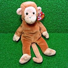 Ty Beanie Baby Bongo The Monkey Rare Retired 1995 PVC W/ Errors MWMT Ships Free