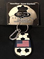 USA American Flag SOCCER Genuine Ball Leather KEYCHAIN By Gamewear WORLD CUP New
