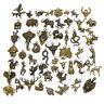 Lot of 20 Vintage Bronze Alloy Charms Mixed Animals Pendants Craft Findings