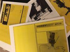 Hobbymat MD65/BFE Lathe/Mill  & Prazi BF 400/500, KT450 Manuals X4