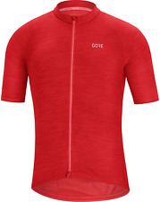 GORE WEAR C3 Men's Short-Sleeved Cycling Jersey, S, Red