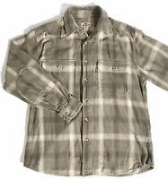 Men's Vintage Woolrich Heavy Cotton Flannel Button Up Shirt Size Large EUC