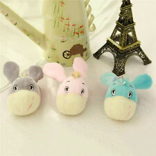 10cm Cute Big Head Donkey  PP Cotton Plush Soft Toys  Small Doll with Sucker